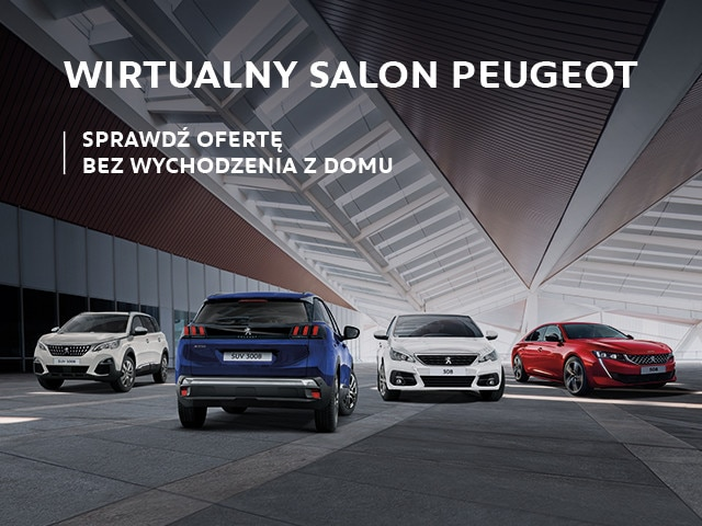 Wybierz samochód dostępny od ręki w Wirtualnym salonie Peugeot