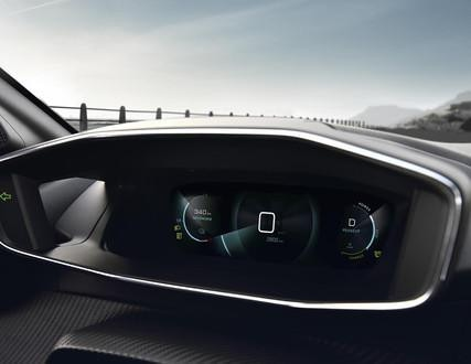 NOWY ELEKTRYCZNY PEUGEOT 208 – Panel zegarów wirtualnych 3D