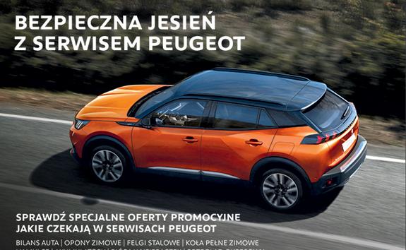 bezpieczna jesien w serwisach Peugeot