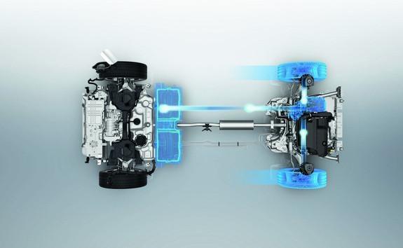Odzyskiwanie energii elektrycznej przy hamowaniu w SUVie 3008 Hybrid4