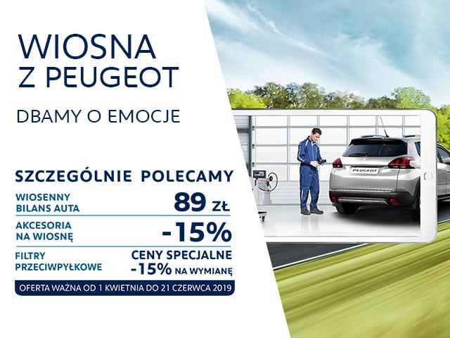 Wiosenna promocja w serwisach Peugeot 2019