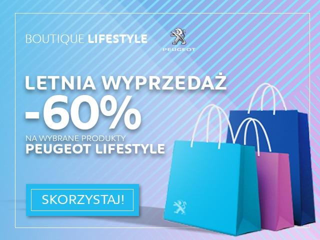 Sprawdź lipcowe wyprzedaże -60% na Peugeot Lifestyle Boutique