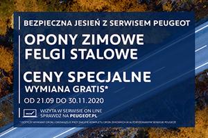 Peugeot serwis OPONY ZIMOWE ; FELGI STALOWE