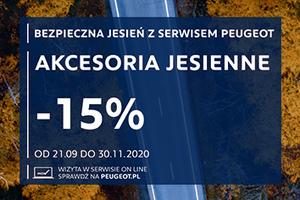Peugeot serwis AKCESORIA JESIENNE