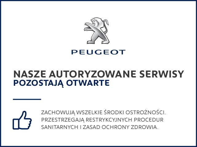 serwisy Peugeot pozostają otwarte.